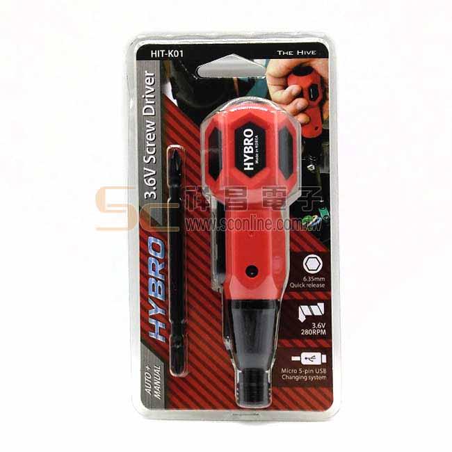HYBRO 3.6V充電螺絲起子 (紅色)