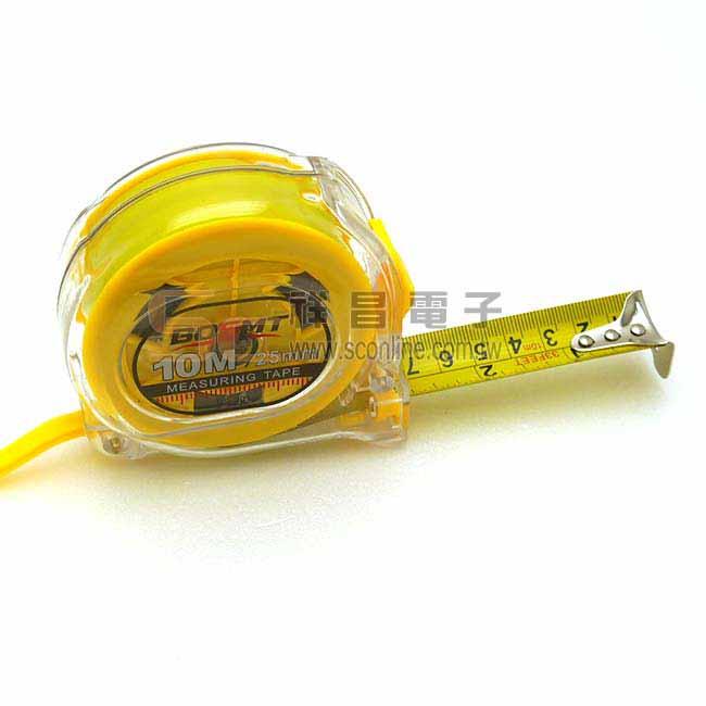 BOSMT BS-001 10米 透明捲尺/卷尺/量尺 黃底 (英尺)