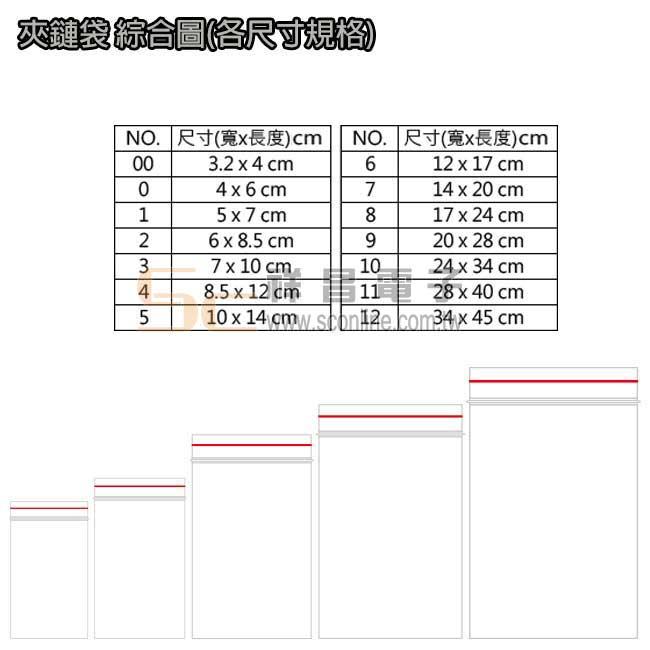 2號 PE夾鍊袋 封口袋 密封袋 6cmx8.5cm (100入)