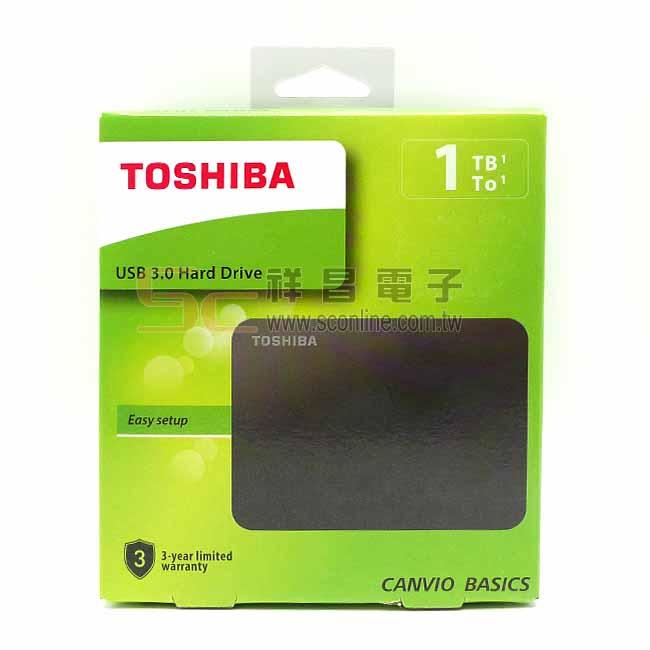 TOSHIBA 東芝 CANVIO BASICS A3 黑靚潮lll 2.5吋 1TB 外接行動硬碟 (黑色)