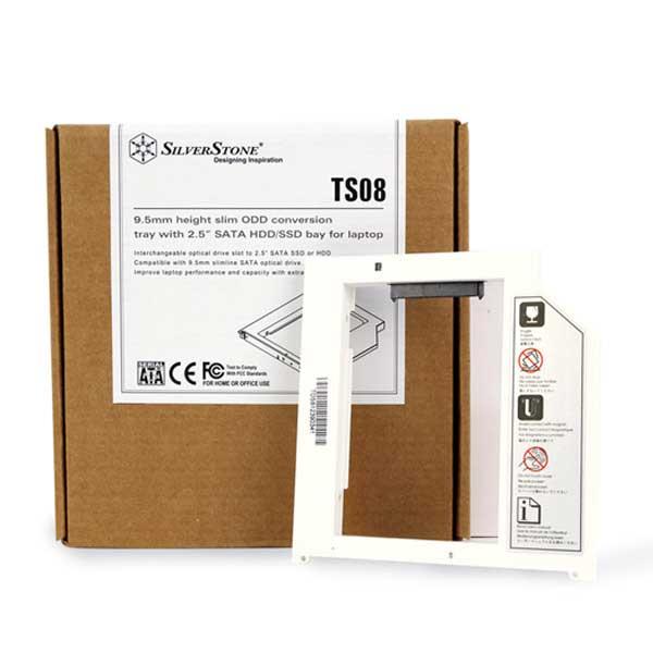 SilverStone TS08 硬碟轉接架 - 白色