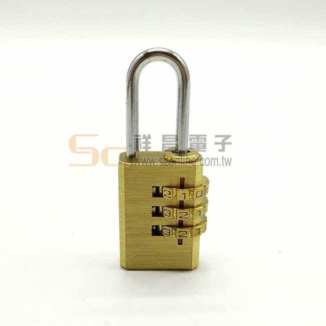 T213 鋅合金 小型 金色密碼鎖