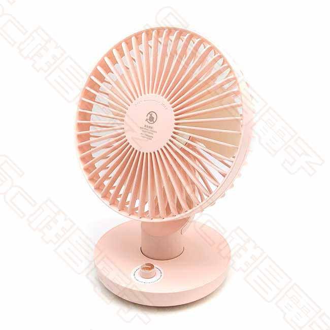 Ethne ET-F-01 超廣角搖頭風扇 桌扇 充電風扇 USB風扇 粉紅色