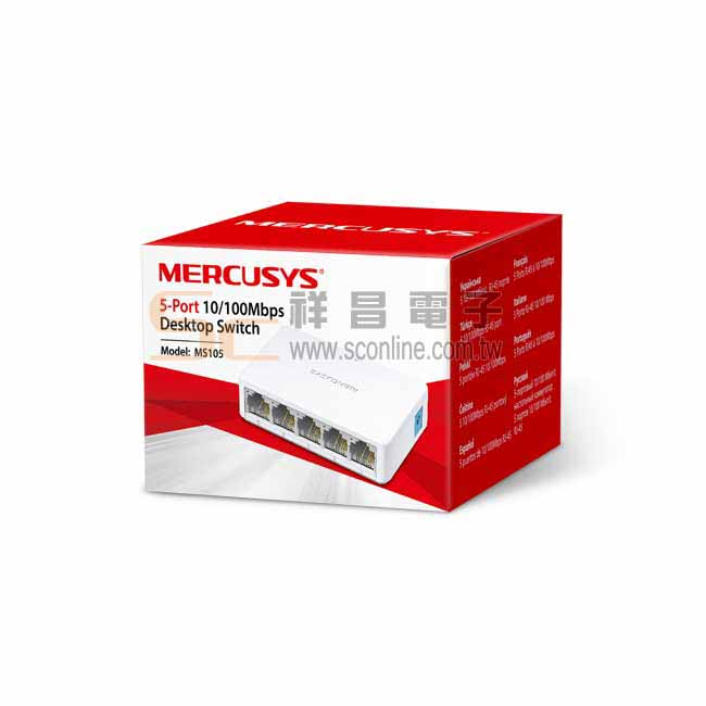 Mercusys 水星網路 10/100Mbps 5埠 5P迷你乙太網路交換器 桌上型交換器 switch hub MS105