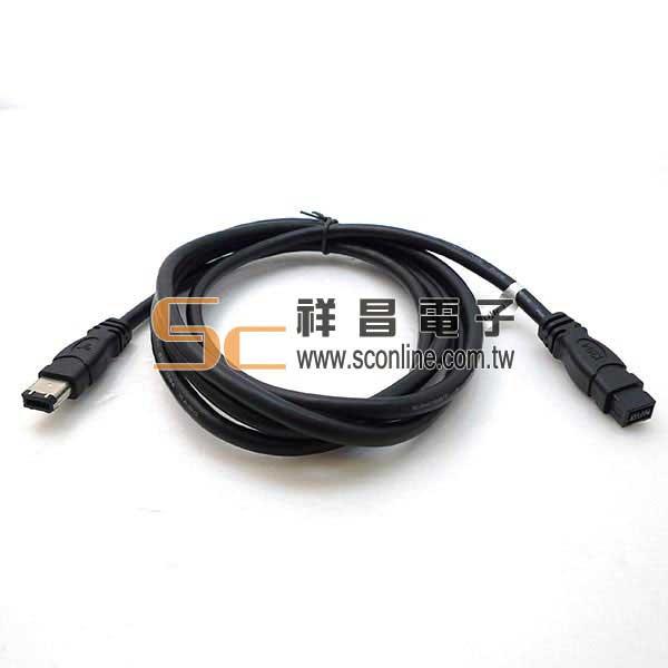 SQ1313 1394 9-6 粗線 1.8M 黑色