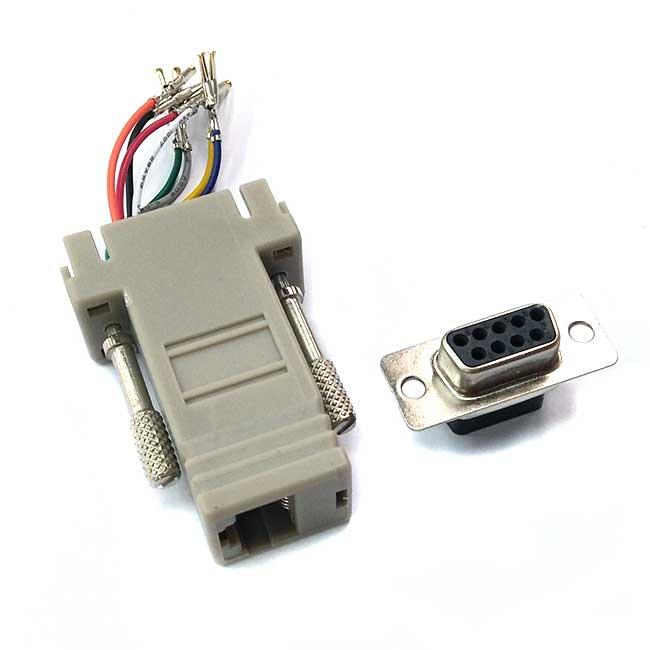 9母-8P8C 轉換頭/轉接頭(D型轉網路)