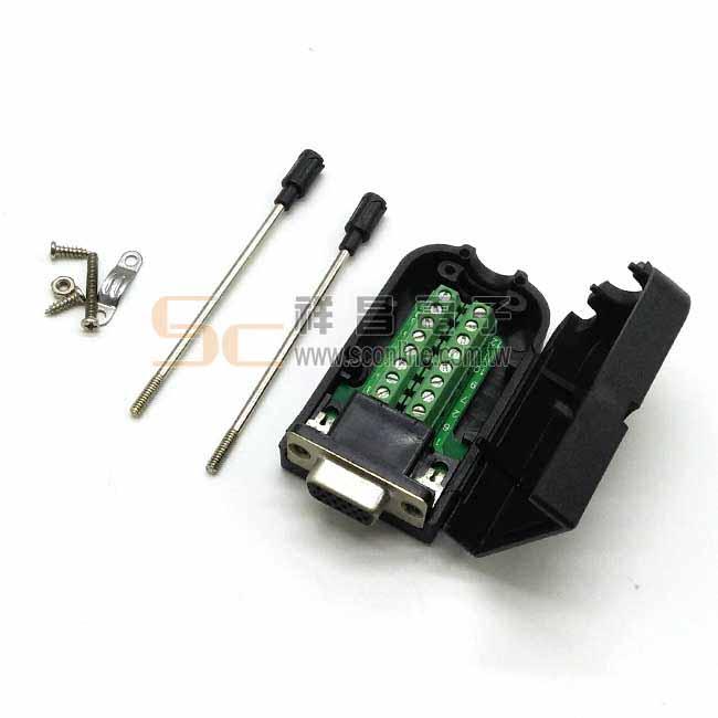 VGA(3+9)母 免焊接頭 (含外殼)