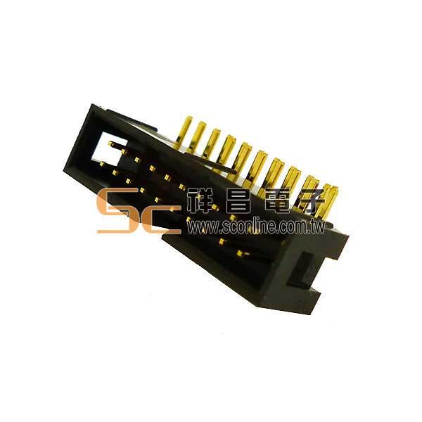 牛角連接器 20P 簡易牛角公 90°