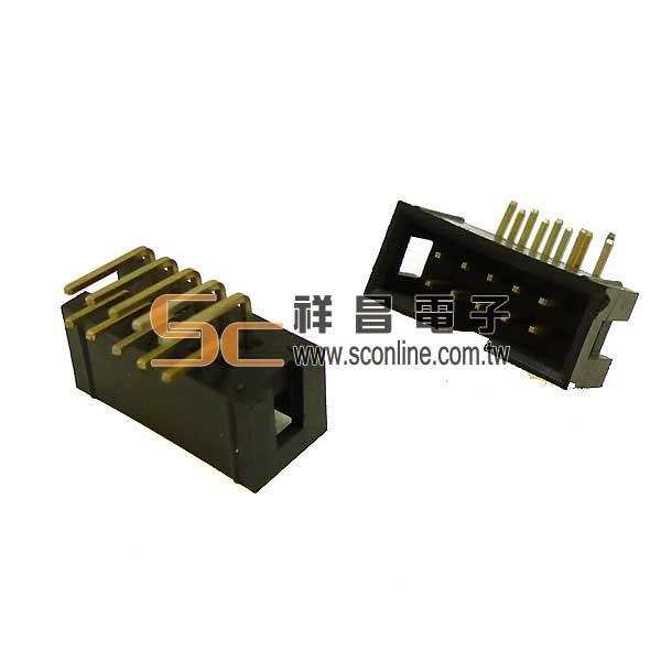 牛角連接器 10P 簡易牛角公 90°