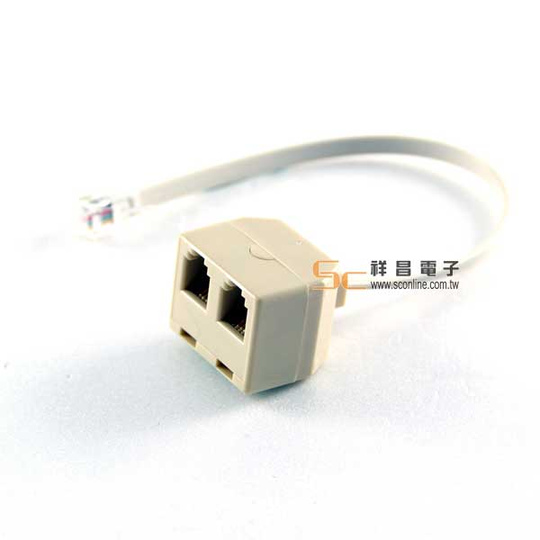 4P4C 1公2母(帶線)電話轉接線