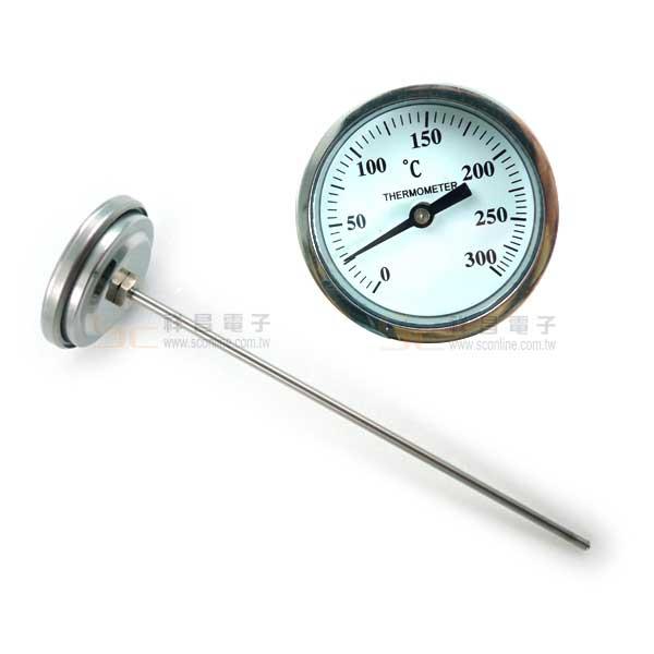 BL 2吋 18cm T型/埋入式溫度計 (0~300°C)