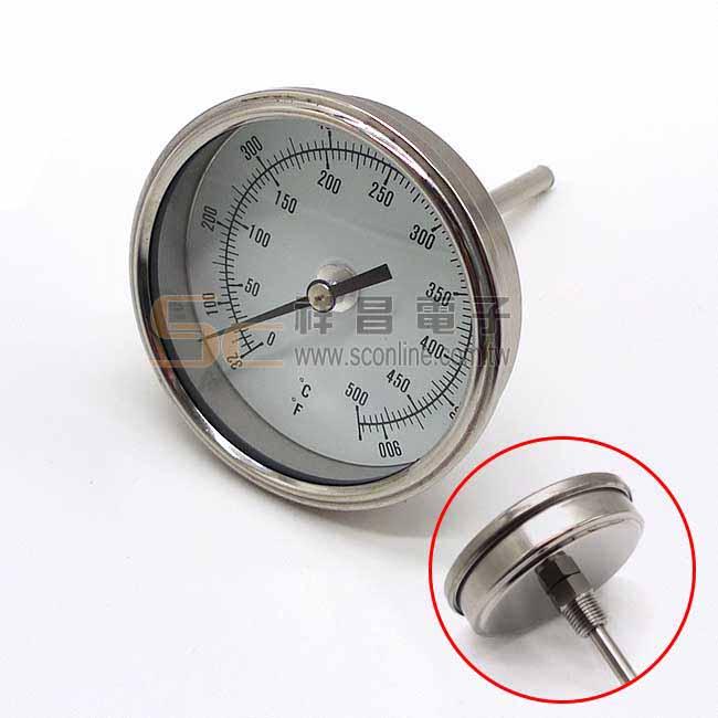 BL 3吋 10cm T型/埋入式雙刻度溫度計 (0~500°C) 下單前建議先詢問交期