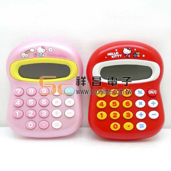 台灣三麗鷗授權 Hello Kitty香菇頭造型計算機 <粉色款> (KT-100)