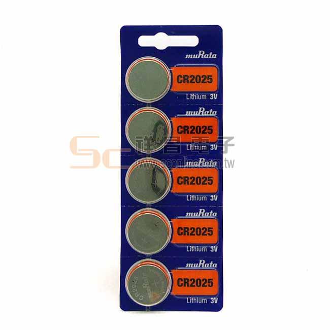 MuRata 村田 專業用鈕釦型鋰電池 CR2025 (1入)