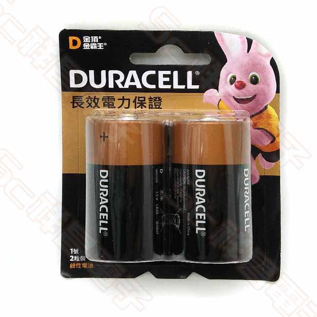 DURACELL 金頂 1號 鹼性電池 (2入/卡)
