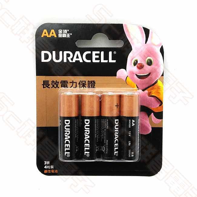 DURACELL 金頂 3號 鹼性電池 3號電池 AA電池  (4入/卡)