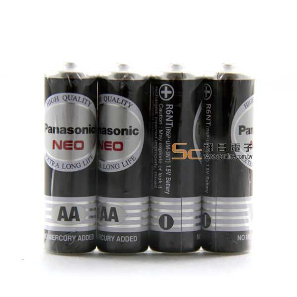 Panasonic國際牌3號環保碳鋅電池AA(4入)