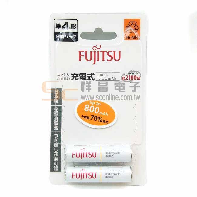 FUJITSU HR-4UTC(2B) 800mAh 4號低自放鎳氫充電電池 2入