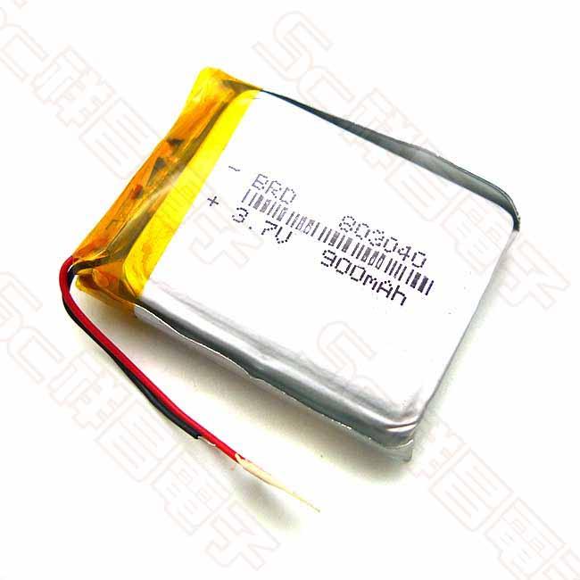 803040 900mAh 3.7V 鋰電池 30x40x8.0mm