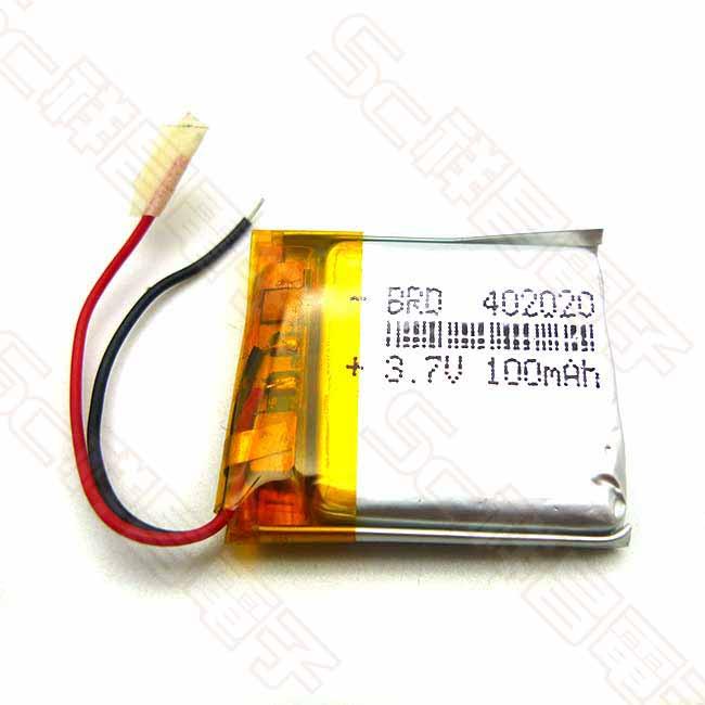402020 100mAh 3.7V 18x24x4mm 鋰電池
