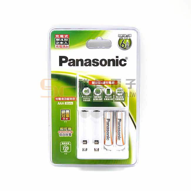 Panasonic 國際牌 鎳氫充電電池 低階 4號電池 2入充電組 (720mAh)
