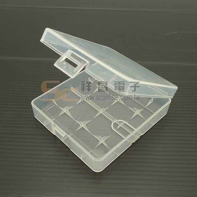 4節透明18650電池收納盒 18650鋰電池盒 收納盒 儲存盒 放置盒