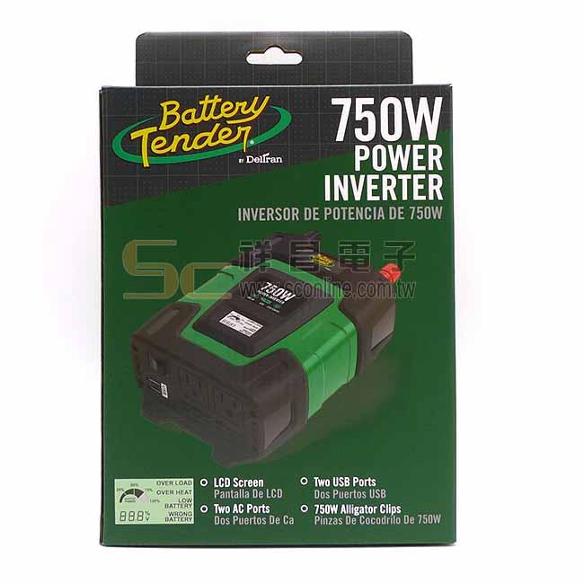 Battery Tender 電源轉換器 750W 12V轉110V (BT750)